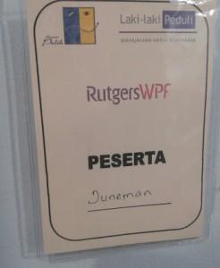 Pelatihan yang diikuti merupakan kerjasama antara RutgersWPF dengan Yayasan PULIH