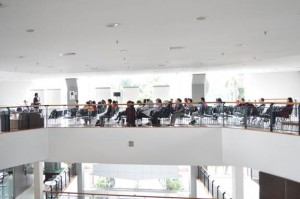 Suasana seminar di Exhibition Hall Kampus Anggrek