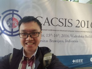 Juneman Abraham di iCACSIS 2016 UI-IEEE-Unibraw