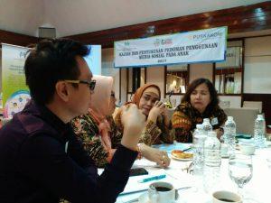Pada pertemuan tersebut, hadir pemangku kepentingan terkait media sosial, seperti Kementerian Pemberdayaan Perempuan dan Perlindungan Anak, Pengurus Besar Persatuan Guru Seluruh Indonesia, APJII/Asosiasi Penyelenggara Jasa Internet Indoensia, Bareskrim POLRI, Komisi Penyiaran Indoenesia, Kementerian Koordinator Bidang Pembangunan Manusia dan Kebudayaan, ICT Watch, dll. Juneman turut menyampaikan pandangan berdasarkan bidang keahlian Psikologi terhadap Kajian dan Penyusunan Pedoman Penggunaan Sosial pada Anak.